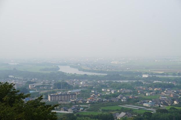 濃尾平野と揖斐川