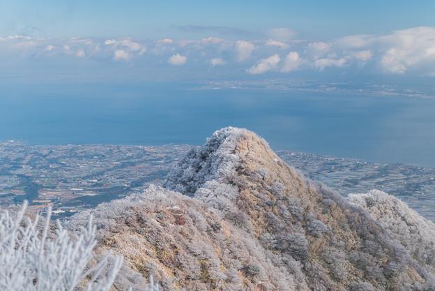 国見岳山頂から