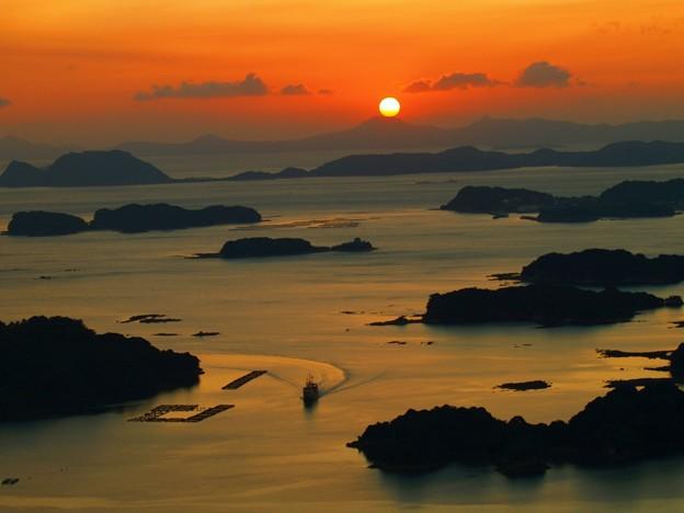 写真: 九十九島夕焼け2