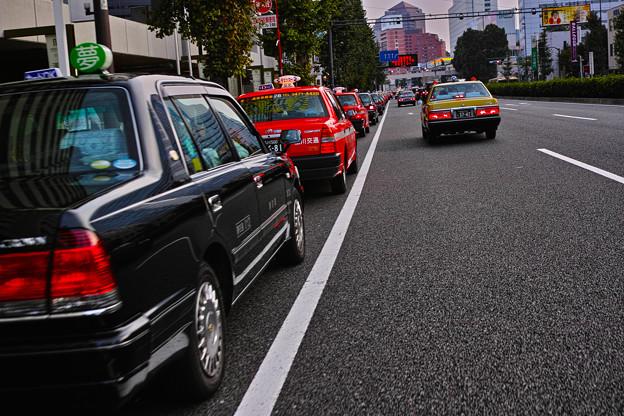 第一京浜のタクシー