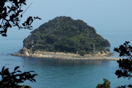 沖ノ島から眺める神島