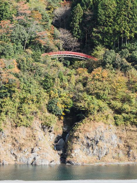 八橋小道の吊橋