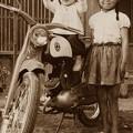 Photos: 隣のお姉さんと父の自慢のバイク