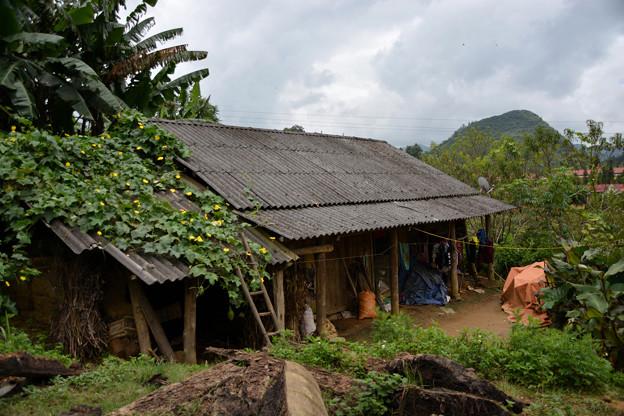 バンホー村の民家