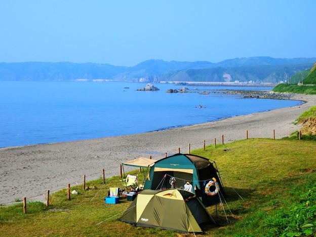 野塚海岸・野営場(キャンプ)