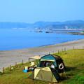 写真: 野塚海岸・野営場(キャンプ)