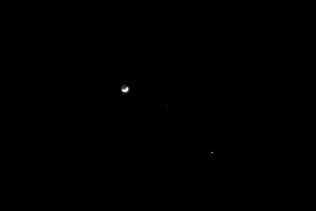 月 火星 金星