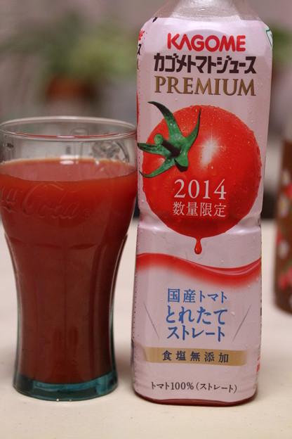 KAGOME カゴメトマトジュース PREMIUM 2014数量限定 国産トマト とれたてストレート 食塩無添加