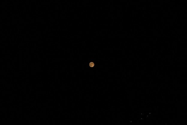 9月9日の満月(マクロレンズ撮影)