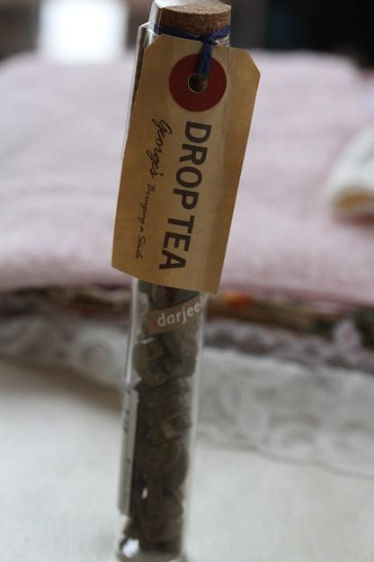 George's DROP TEA darjeeling コルク栓ガラスビン