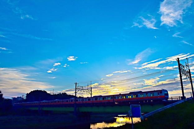 Photos: 朝陽シルエット
