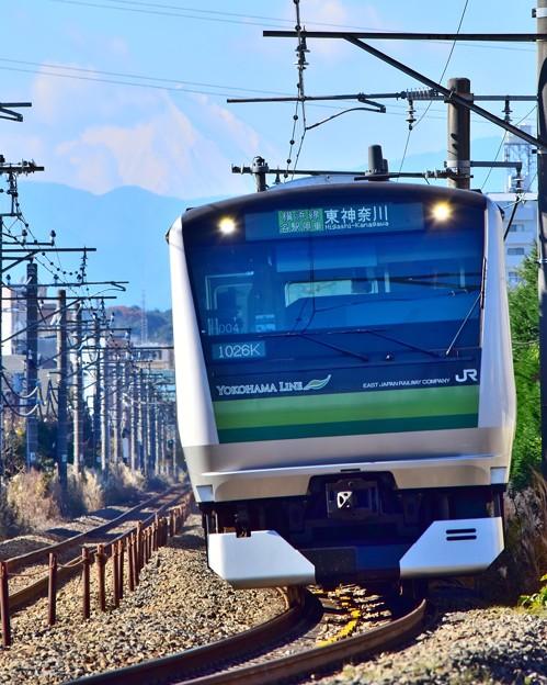 富士が見える沿線1