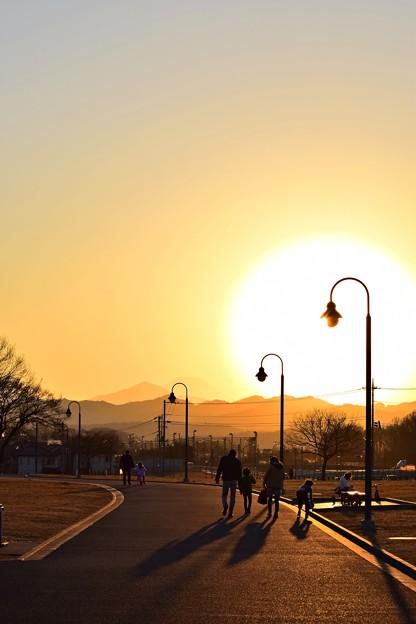 夕陽の家路