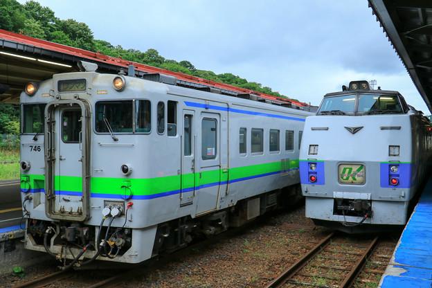 キハ40形&キハ183系特急オホーツク@網走駅
