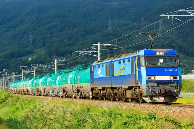 5463レ EH200-12+タキ@稲荷山ストレート
