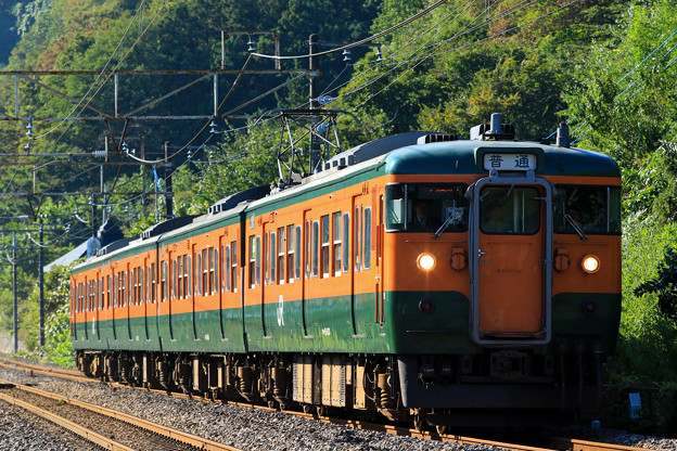 Photos: 115系@津久田-岩本(第一川端踏切)