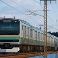 写真: E231@蒲須坂鉄橋