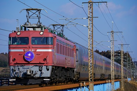 8010レ EF81-81牽引カシオペア紀行@蒲須坂鉄橋