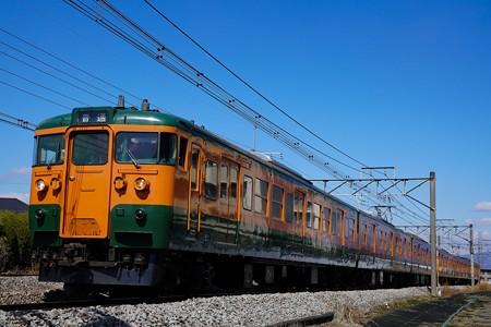 上越線738M 115系湘南色6連@新前橋-井野