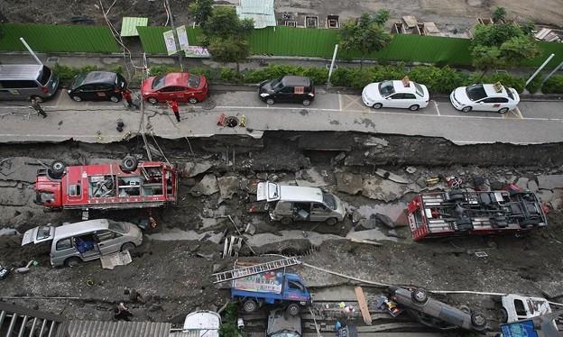 台湾高雄の惨劇 まるでダイハードかと思えるような爆発の後・・・ (2)