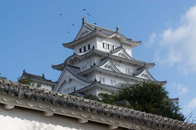 姫路城【09_菱の門を入った場所から見た天守閣】