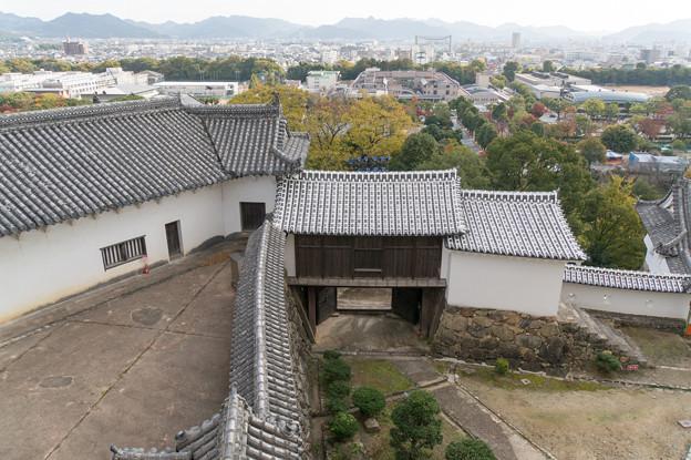 姫路城【30_天守から見下ろす城郭】