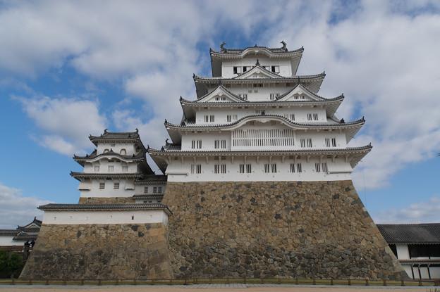 姫路城【33_本丸から見る天守】2