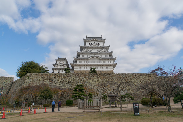 姫路城【39_二の丸から見る天守閣】