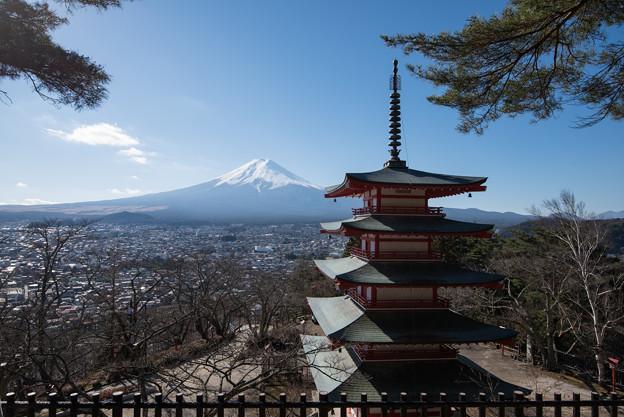 富士山【新倉富士浅間神社からの眺め】1