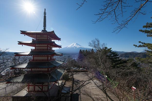 富士山【新倉富士浅間神社からの眺め】2