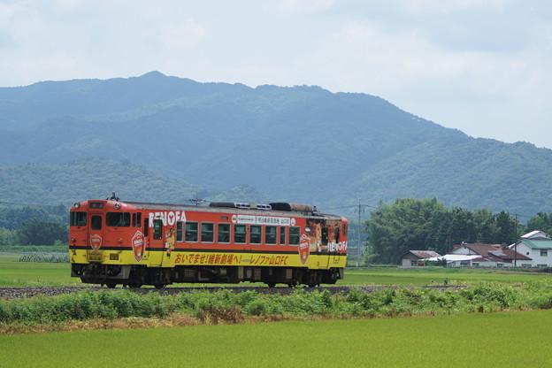20160731  レノファ山口ラッピング列車@地福