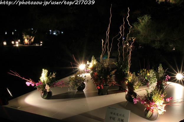 IMG_2425京都・東山花灯路2017・前期・現代いけばな展
