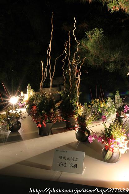 IMG_2427京都・東山花灯路2017・前期・現代いけばな展