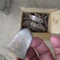 写真: ハンマーナイフローター  磨耗した刃