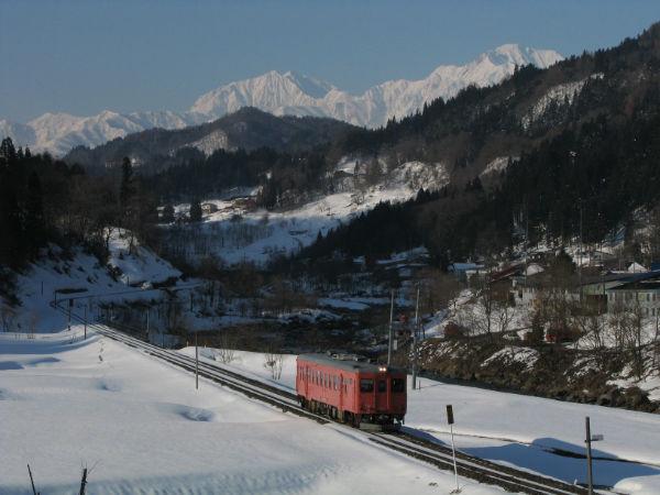 冬の小谷村。超有名撮影地で...
