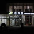 夜の稚内駅
