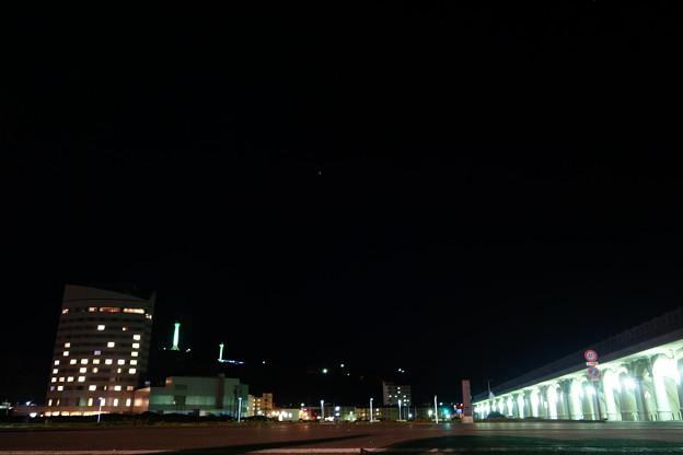 稚内北防波堤ドームと全日空ホテル