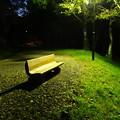 夜のベンチ