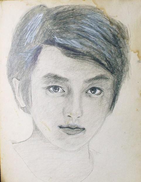 若かりし頃 鉛筆画 1976年