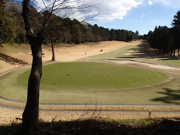 隣のゴルフ場