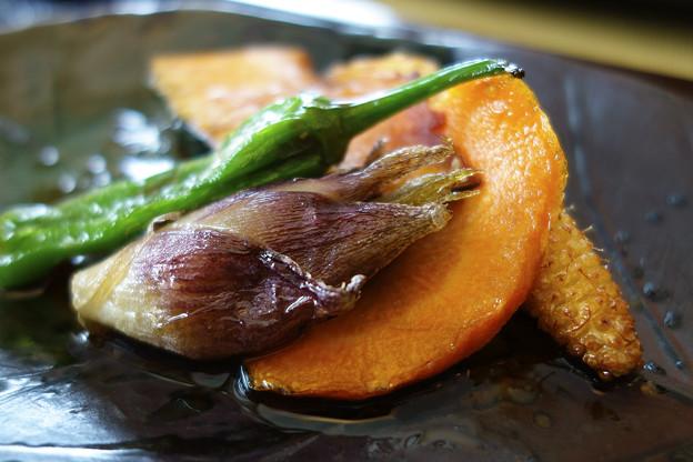 季節の野菜の揚げ物