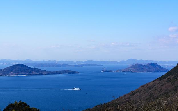 屋島から小豆島方面に臨む