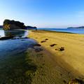 写真: こちらも海は静か・・・