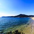 青い海、白い砂浜