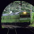 納涼、夏のトンネル。(関西本線:奈良県)