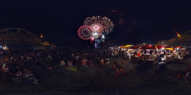 Photos: 2014年7月26日 安倍川花火大会 360度パノラマ写真(3)