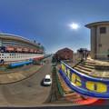 清水港 日の出埠頭 セレブリティミレニアム寄港 360度パノラマ写真(1) HDR