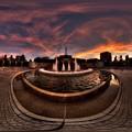 2014年10月6日 常磐公園 夕焼け 360度パノラマ写真 HDR