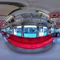 静岡鉄道 1000形 車内 360度パノラマ写真 HDR