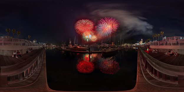 Photos: 2016年7月24日 熱海海上花火大会 360度パノラマ写真